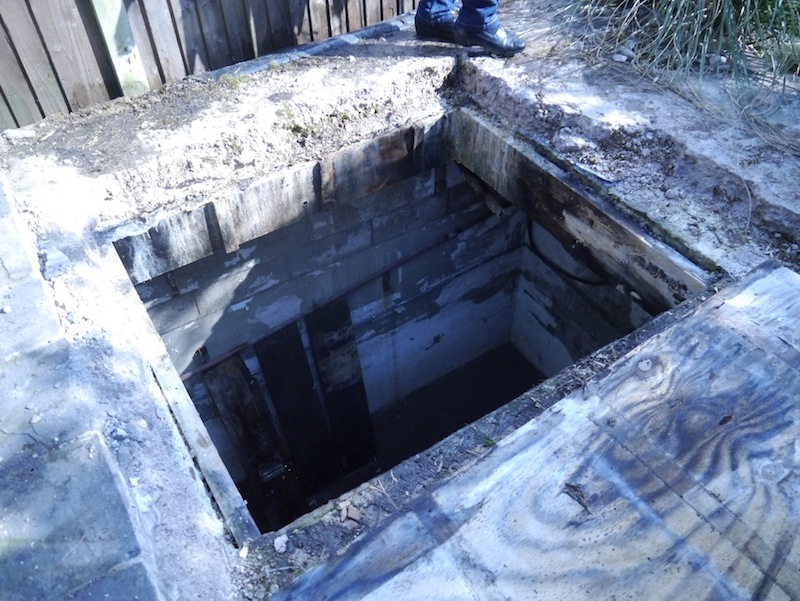 Large hole in filter house roof
