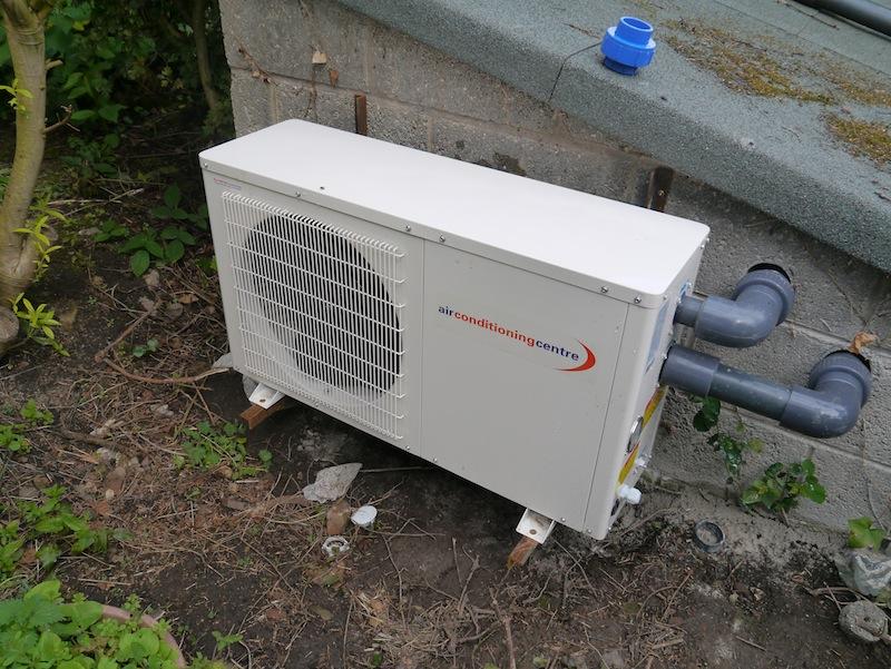 Koi pond heat pump feeding into eric three for Koi pond heater