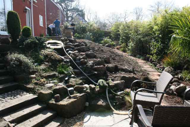 Area where koi pond excavation is going to be picture 3