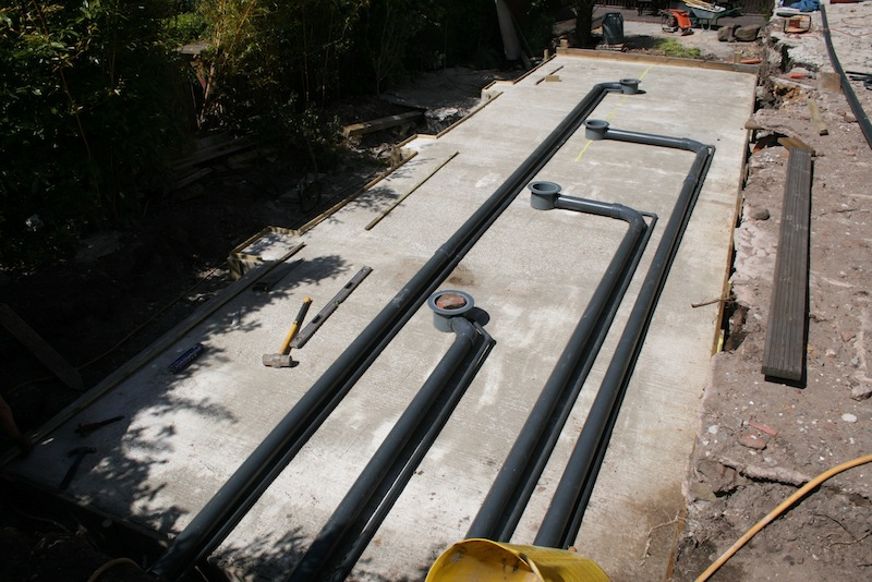 A new 12 000 gallon modular style build koi super system for Koi pond bottom drain setup