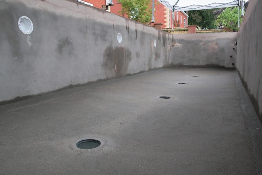A new 12 000 gallon modular style build koi super system for Koi pool bottom drain