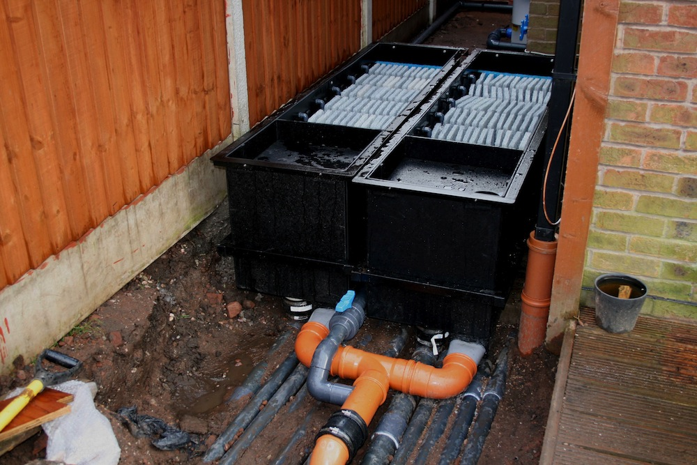 Showing all the  pipework from the ERIC units