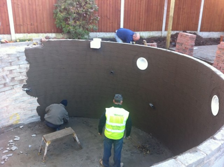 A new eric koi pond installation in north west england for How to install a koi pond