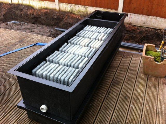 ERIC Four Koi Pond filter ready to installed.